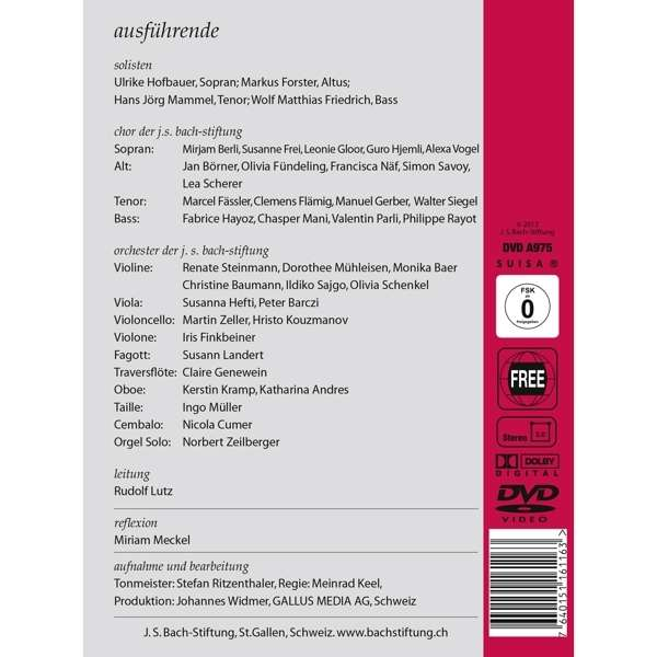 Cantata BWV 146 - Details & Discography Part 1: Complete
